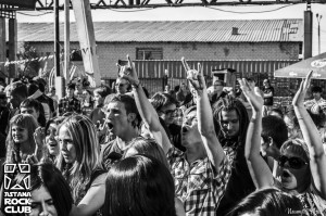 Audience outdoor at Astana Rock Club